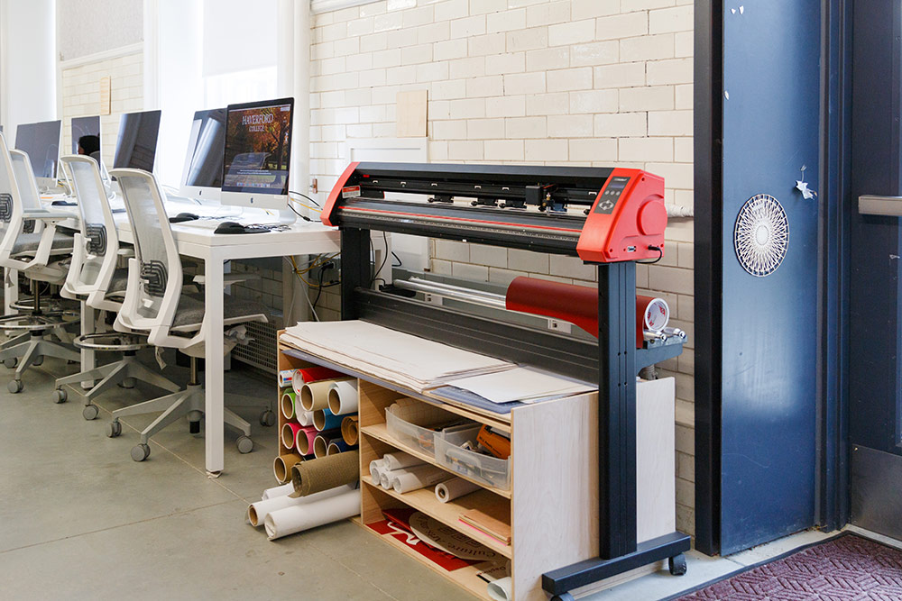 The Vinyl Cutter with various PCs in the background