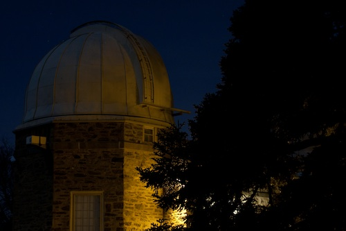 Strawbridge Observatory at night