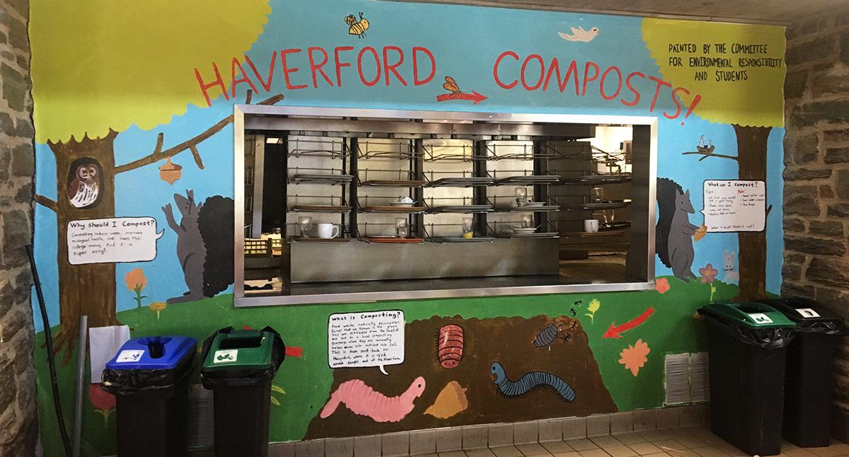 Dining Center composting station