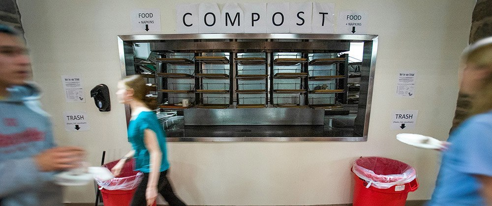 Composting diverts food and other materials out of landfills.