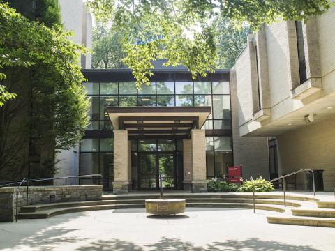 The front entrance to Stokes Hall