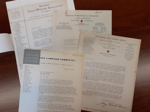 Correspondence from Wood's work with the Spanish Child Welfare Association