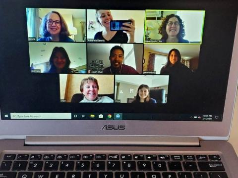 CCPA staff in a zoom meeting together