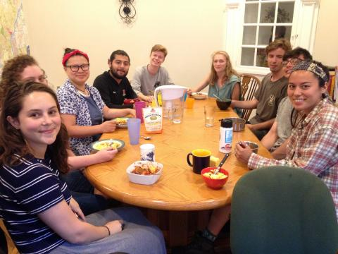 Haverford House Communal Dinner 1
