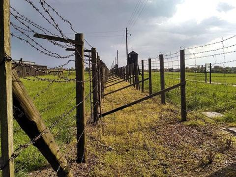 Barbed wire fences stretch into the distance