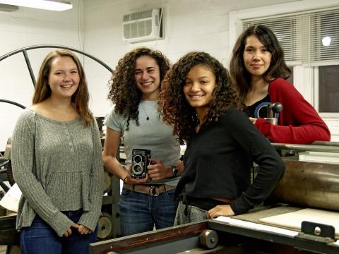 Delilah Buitrago, Sarah Jesup, Emily Williams, and Hana Luisa Binte Yaacob