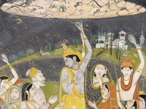 Krishna Holding Mount Govardhan
