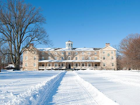Founders Hall in the Snow