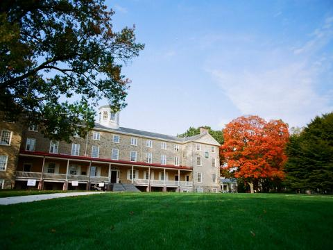 Founders Hall in the fall