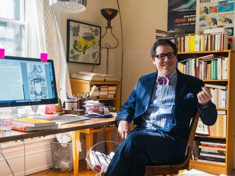 David L. Sedley in his office