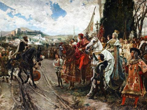 """The Capitulation of Granada"" by Francisco Pradilla Ortiz"