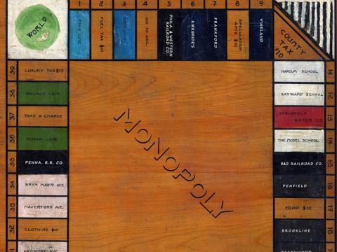 "Haverford ""folk"" Monopoly board"