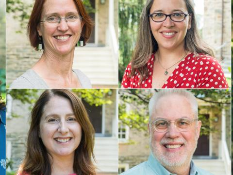 headshots of new faculty members