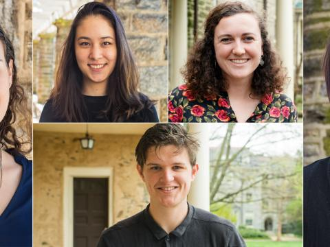 Headshots of five 2017/2018 Fulbright winners