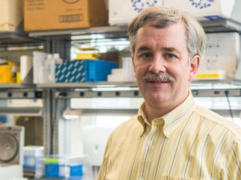 Karl Johnson in his lab