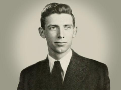 Morrie Evans' yearbook photo
