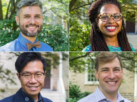 A grid of headshots of all six new faculty members