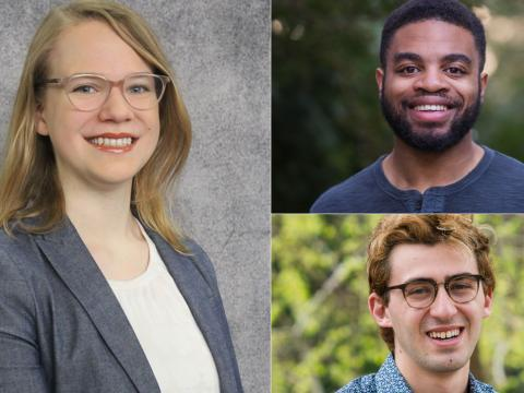 A grid of the five Fords who received NSF Graduate Research Fellowships this year