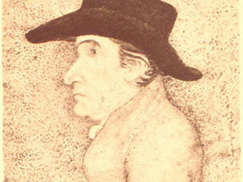 Drawing of Thomas Scattergood