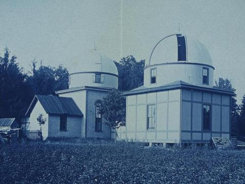 Photography of observatory being built