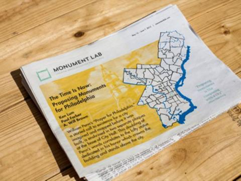 Photograph of the Monument Lab newspaper