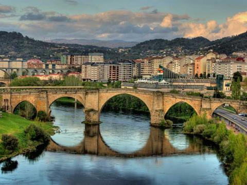 A Roman bridge in Ourense Spain