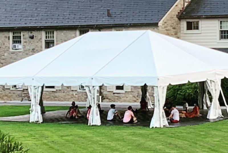 Tent on Leeds Green