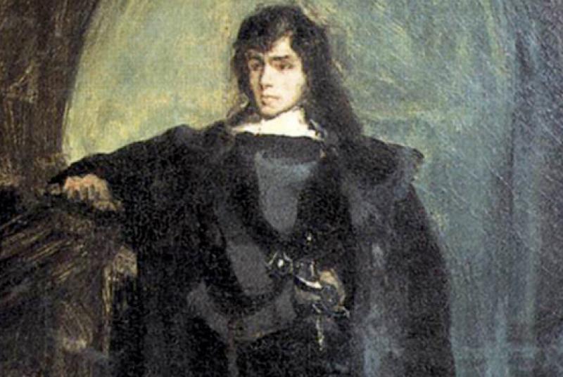 Eugène Delacroix, Portrait of the artist as Hamlet