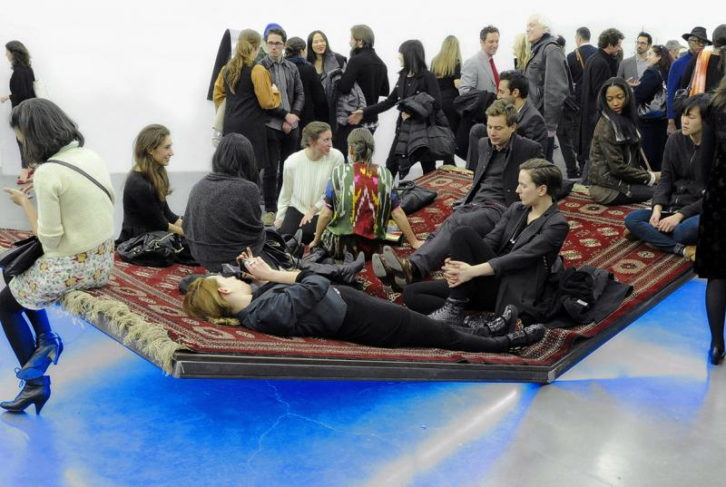 "Slavs and Tatars' installation, ""Prayway,"" at the New Museum"