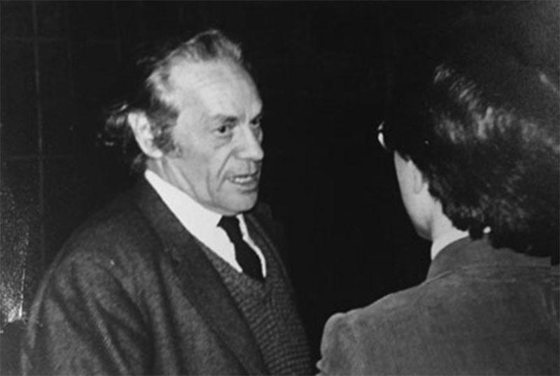 Nicanor Parra and Ramón, at La Casa Hispánica, Haverford.