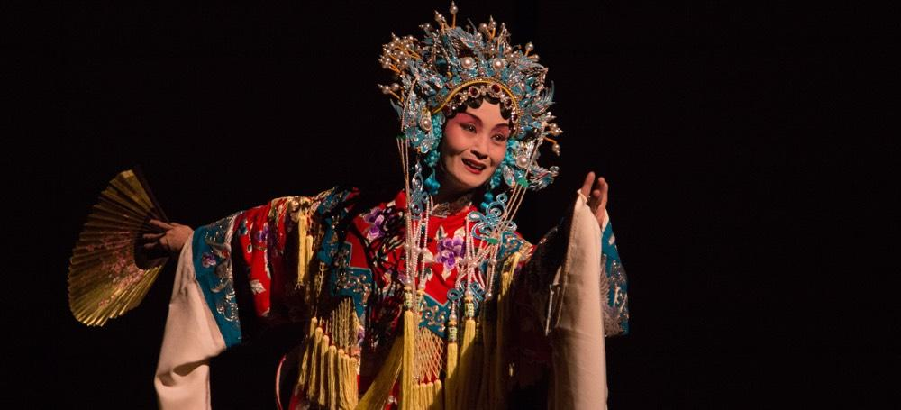 A performer of the centuries-old art of Beijing opera