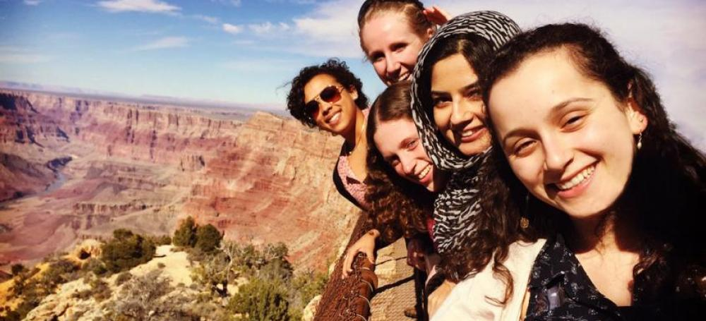 Students visiting the Grand Canyon