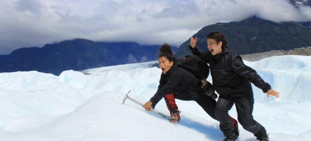 Estefania and Pia conquer the mountain
