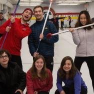 Group shot of Haverford Curling Club