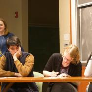 Students play a round of The Dating Game