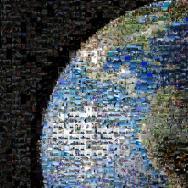 Photo mosaic of Earth