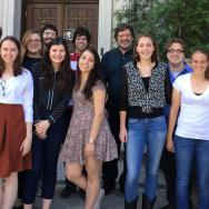 Members of the Biochemistry Superlab course with their professors