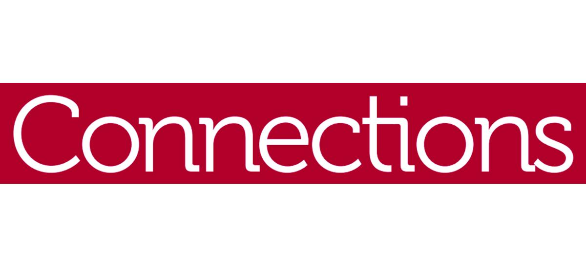 Connections header, white text on Haverford red background.