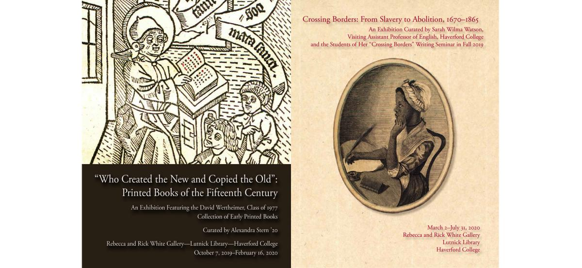 cover images of the two award-winning catalogs