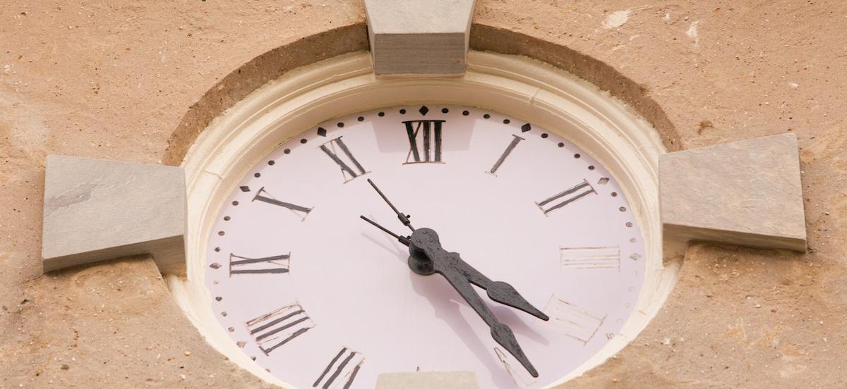 The lavendar clock