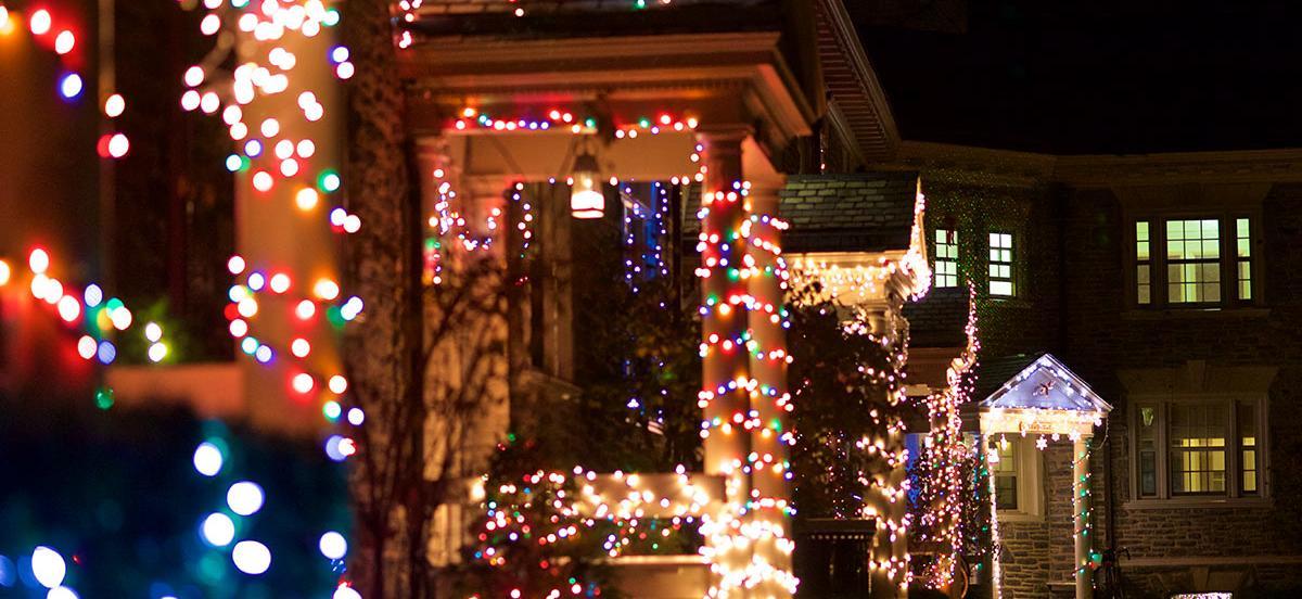 Lloyd dorm entryways decorated for the holiday season