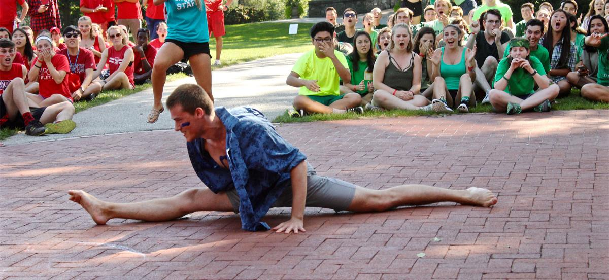 Man doing a split