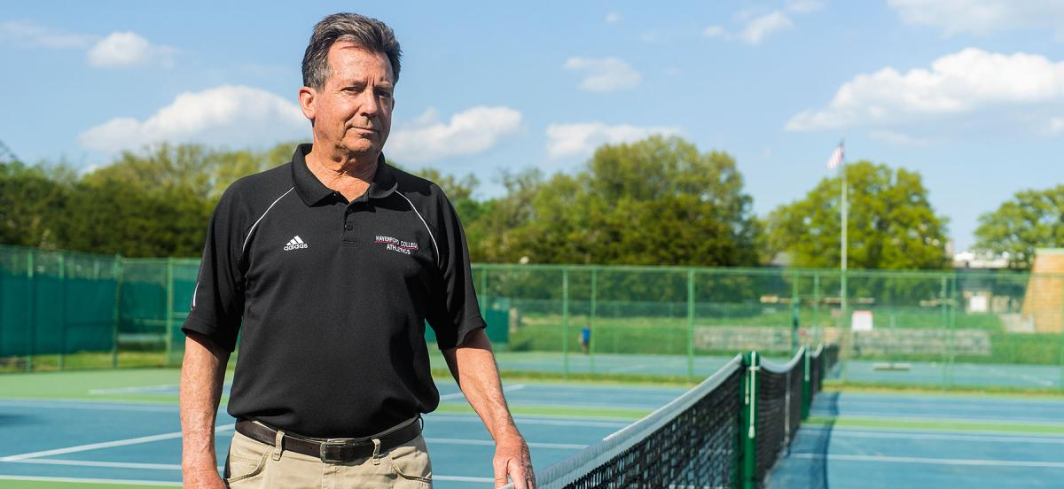 Sean Sloane on the tennis courts