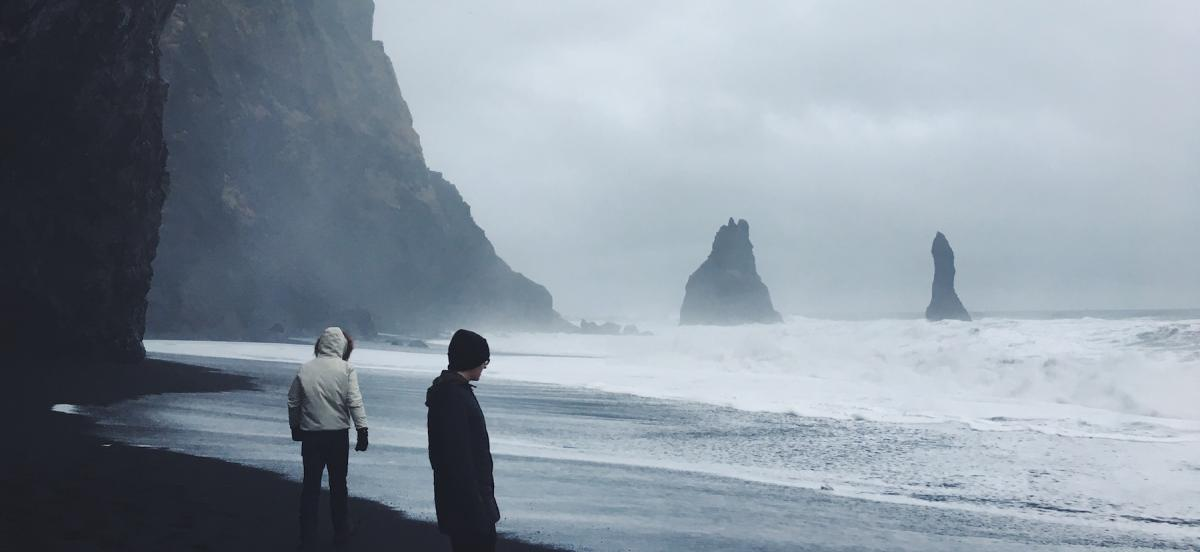 "Mason McNulty '19, ""Wandering the Black Sand Beach,"" Reynisfjara, Iceland"