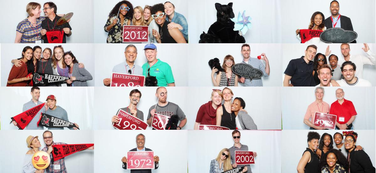 Alumni Weekend photo booth mosaic
