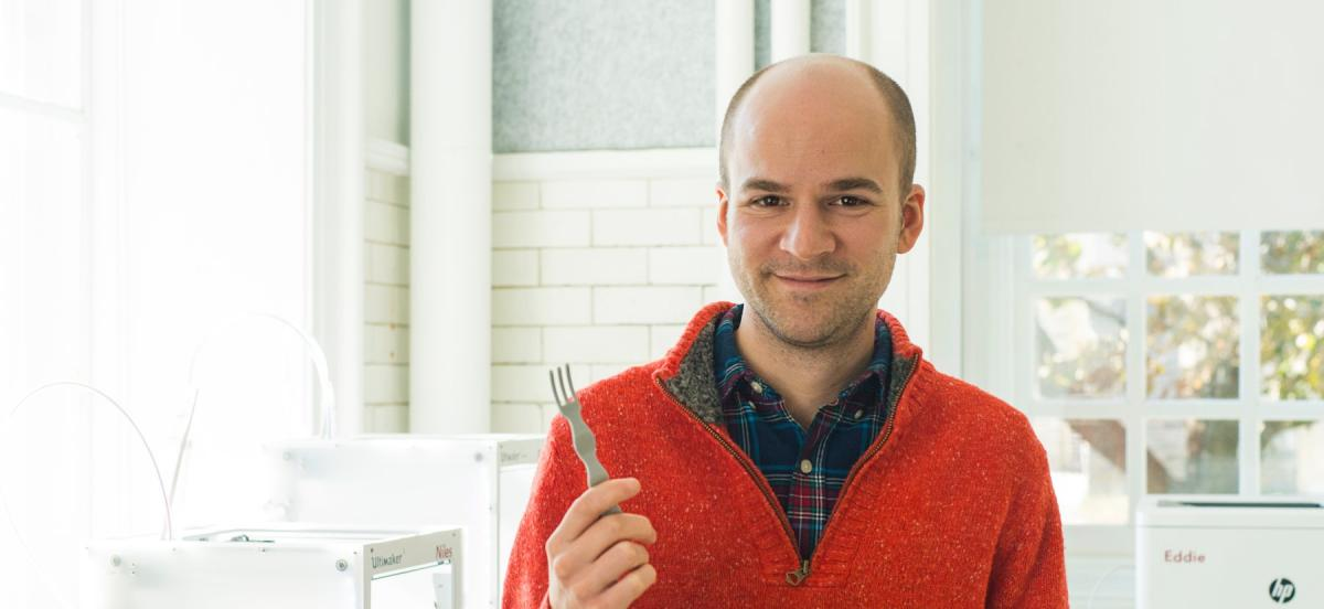 Man with fork