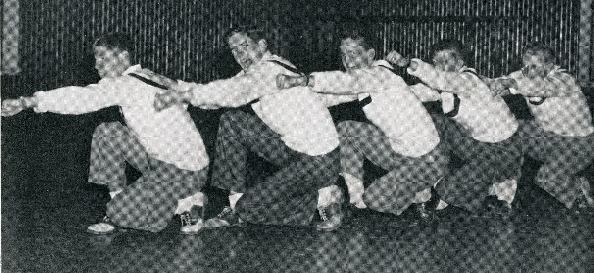 Haverford Cheerleaders in the 1940's