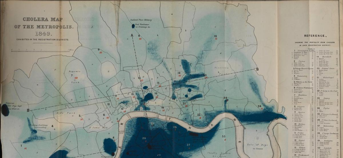 Cholera Map of the Metropolis from 1849