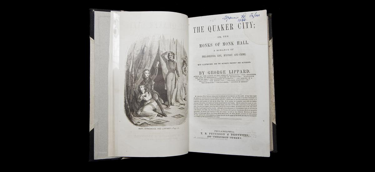 The book The Quaker City interior