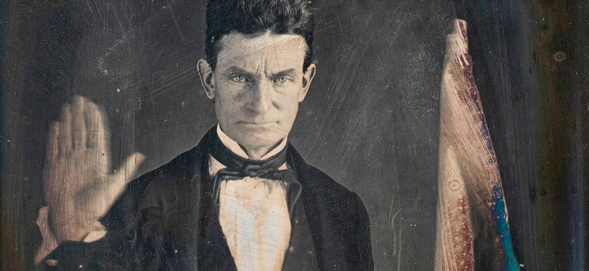A daguerreotype of john Brown, circa 1846–47